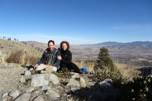 Lutrell and I over 7000 ft above Carson City at Ash Canyon