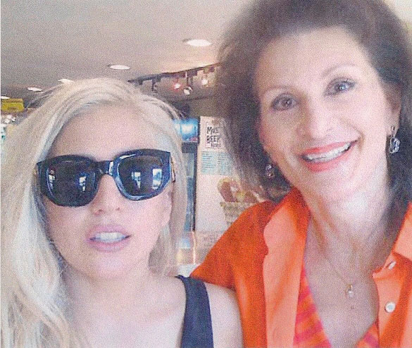 Lady Gaga at the Sonoma's Best store